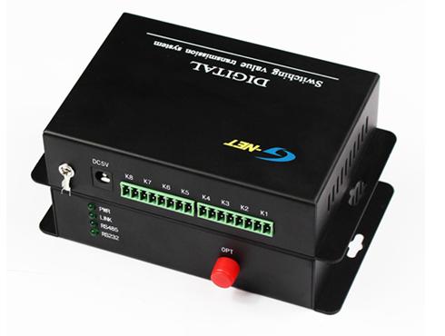 8CH Forward Contact Closure(Normal Open), Single Fiber, Multi-Mode, 1310nm, 2-20KM, FC