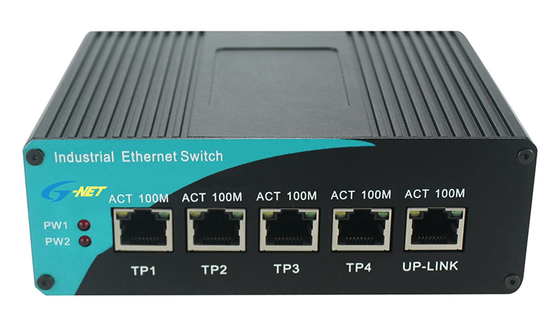 Unmanaged 4-port 10/100M Industrial POE PSE Switch