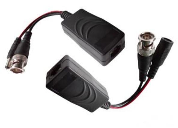 TVI/CVI/AHD/Analog Video + Power (12/24DVC)  Over UTP Cable  Cat5E/6 Extender  200 - 400m