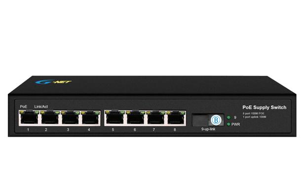 8x10/100M POE PSE + 1x100M, single fiber, 20KM, SC, total power:120W