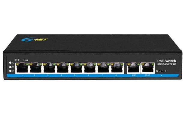 8x10/100M POE ports + 2x10/100M uplink ports
